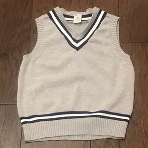 Boys Sleeveless Gray Sweater Vest
